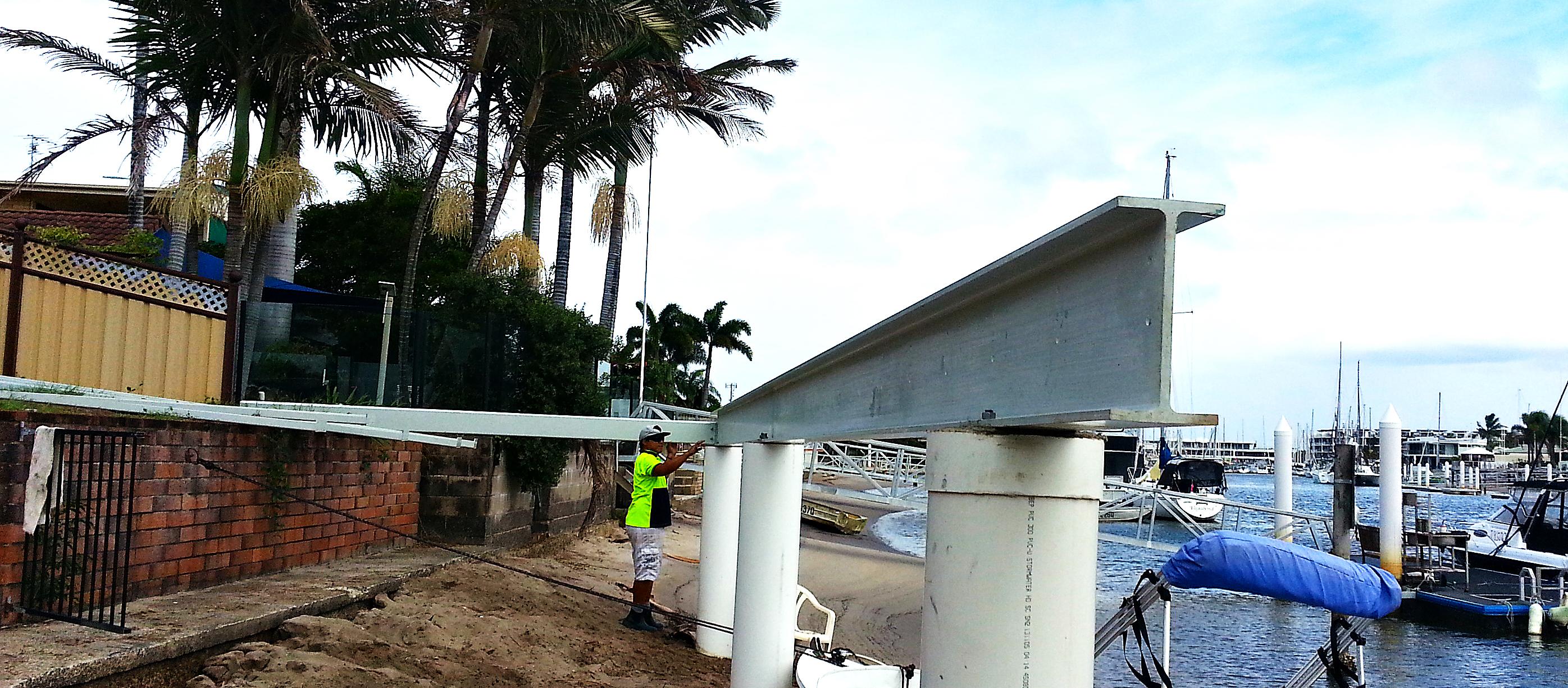 FRP Bearer for Deck near salt water