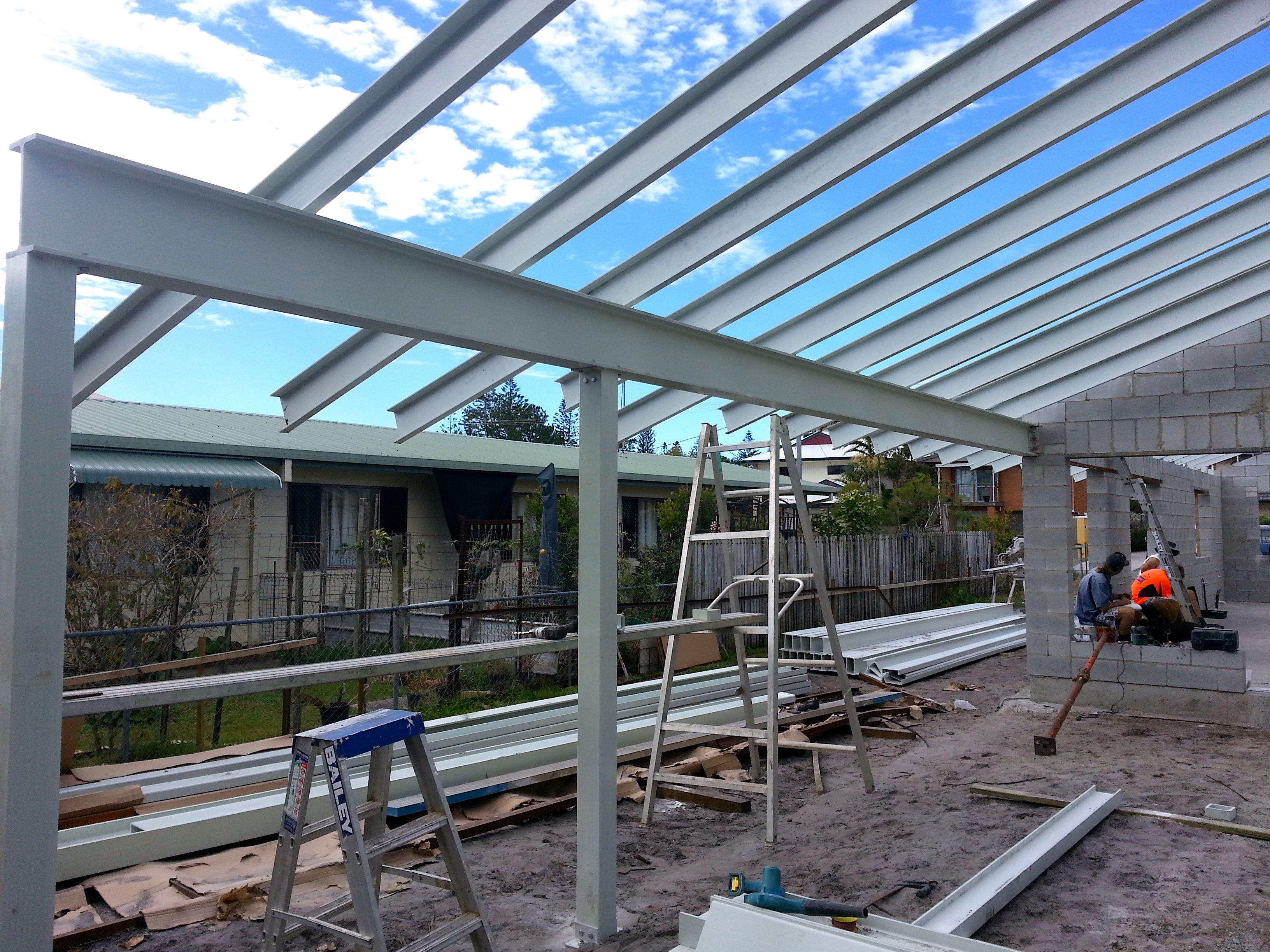 FRP Carport Beams, Posts and Rafters